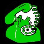 zöld telefon